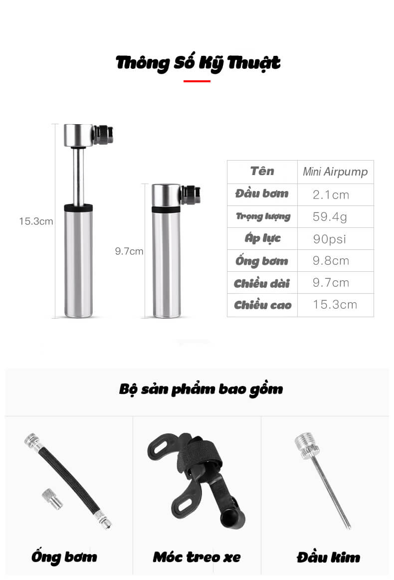 Bơm Mini Airpump